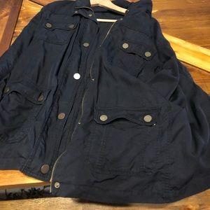 Lane Bryant Black Utility Jacket